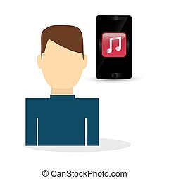 wearable technology design. social media icon. smartphone concep, vector illustration
