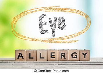 Eye allergy headline in an indoor environment