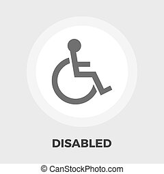 Disabled flat icon - Disabled icon vector. Flat icon...