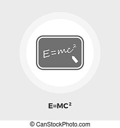 Physics flat icon - Physics icon vector Flat icon isolated...