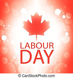 Labour Day Canada banner with canadian flag abstract...