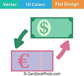 Icon of currency exchange