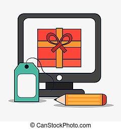 Digital Marketing design. ecommerce illustration. internet conce