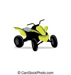 Sport ATV Vector Cartoon Illustration - Transport off-road...