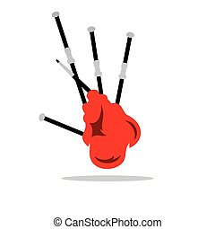Scottish Bagpipe Vector Cartoon Illustration - Scottish...