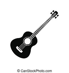 Acoustic guitar icon, simple style - Acoustic guitar icon in...