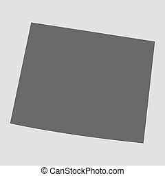 Black map state Wyoming - vector illustration.