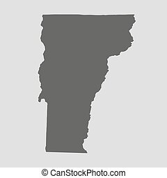 Black map state Vermont - vector illustration - Black map of...