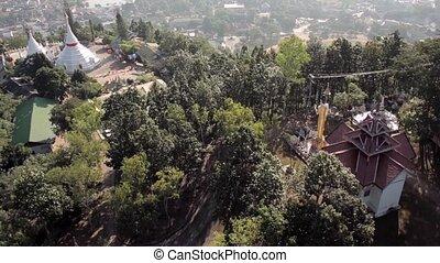 Buddha Temple Aerial Shot Mae Hon Son