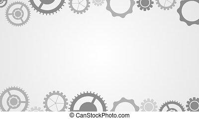 Light and dark tech gears mechanism video animation - Light...