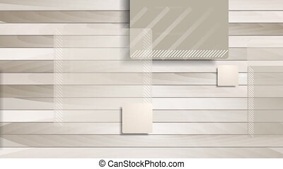 Brown abstract squares on wooden background animation -...