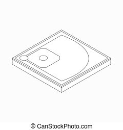 Baseball field icon, in isometric 3d style - Baseball field...