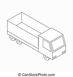 Truck icon, isometric 3d style - Truck icon in isometric 3d...