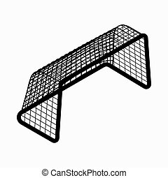 Soccer goal icon, isometric 3d style - Soccer goal icon in...