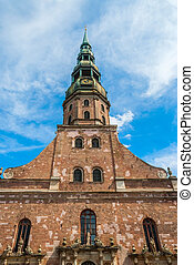 View on old St James cathedral in Riga - Saint James...