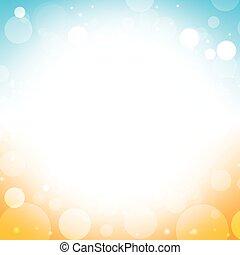 summer background - blur of sky sun