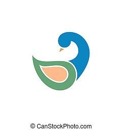 Duck modern logo vector illustration design on a white...