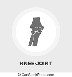 Knee-joint flat icon - Knee-joint icon vector Flat icon...