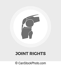 Joint flat icon - Joint icon vector. Flat icon isolated on...