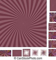 Dark spiral background set - Dark retro vector spiral design...
