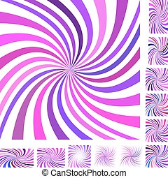 Pink purple spiral background set - Pink and purple vector...