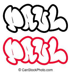 the name Paul in graffiti style