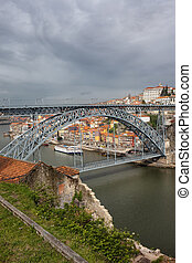 Dom Luis I Bridge in Porto and Gaia - Dom Luis I Bridge over...