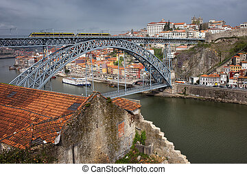 Porto in Portugal - City of Porto in Portugal, view from...