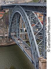 Dom Luis I Bridge over Douro River in Porto - Dom Luis I...