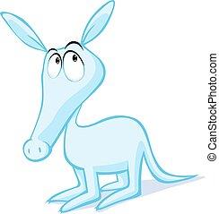 cute aardvark illustration isolated on white - vector