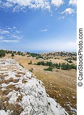 Mount Ai-Petri plateau - bright summer travel photo Crimea...