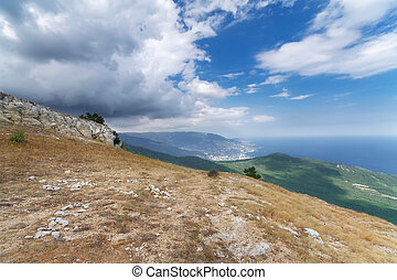 Mount Ai-Petri plateau - bright summer travel photo Crimea...