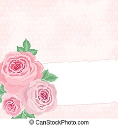 Pink background with roses