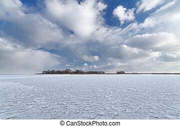 Bright winter landscape - bright winter photo beautiful warm...