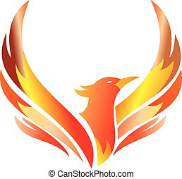 phoenix flaming illustration - logo for any business