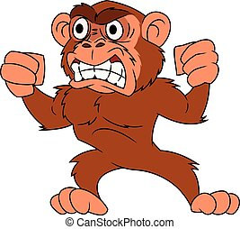 Angry monkey illustration 2 - Illustration of the angry...