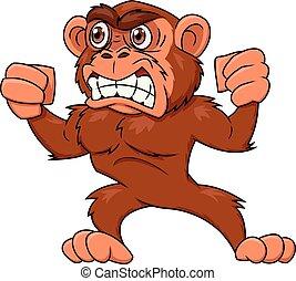 Angry monkey illustration