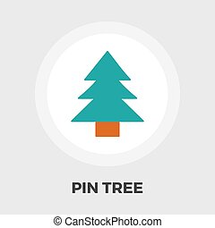 Conifer icon flat - Conifer icon vector Flat icon isolated...