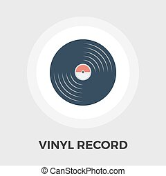 Record flat icon - Record icon vector Flat icon isolated on...