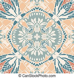 Vector seamless pattern background with different...