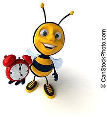 diversión, abeja,