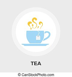 Tea flat icon - Tea icon vector Flat icon isolated on the...