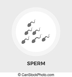 Sperm vector flat icon - Sperm icon vector Flat icon...