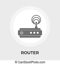 Router flat icon - Router icon vector Flat icon isolated on...