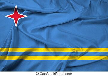 Waving Flag of Aruba