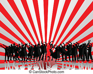 group people with abstract background