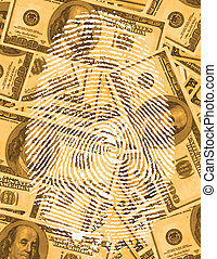 Finger Print and US Currency