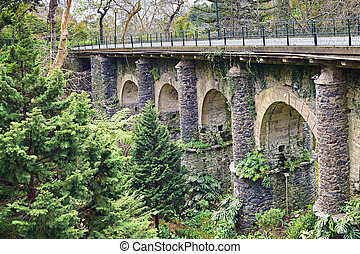 Old railway bridge in Monte, Madeira, Portugal
