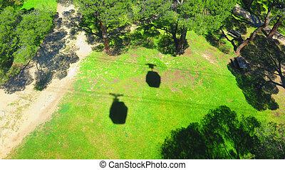 Cable car Cabin shadows - Cable car shadows over the Casa de...