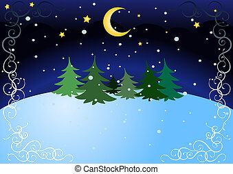 winter night - background for the inscription or...
